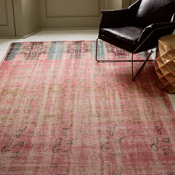 Caspian Distressed Rug Ombre Pink 9 X12 At West Elm Rugs Home Decor Floor Decor Modern Area Rugs Rugs Bedding Shop