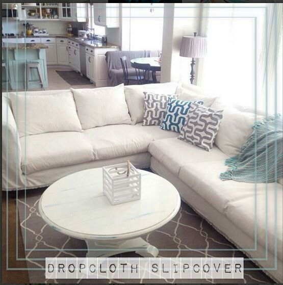 Swell No Sew Drop Cloth Couch Cover Sew Nosew Projects Ideas Pdpeps Interior Chair Design Pdpepsorg