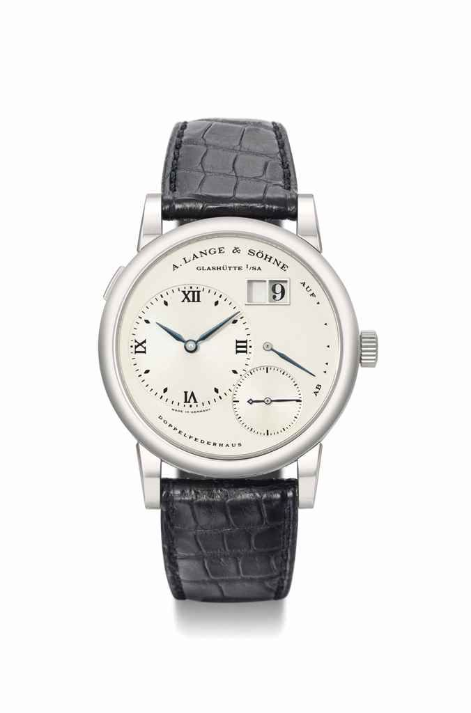 A. Lange & Söhne. A highly limited and very attractive stainless steel twin-barrel wristwatch with oversized date and power reserve, circa 1998 #ChristiesWatches