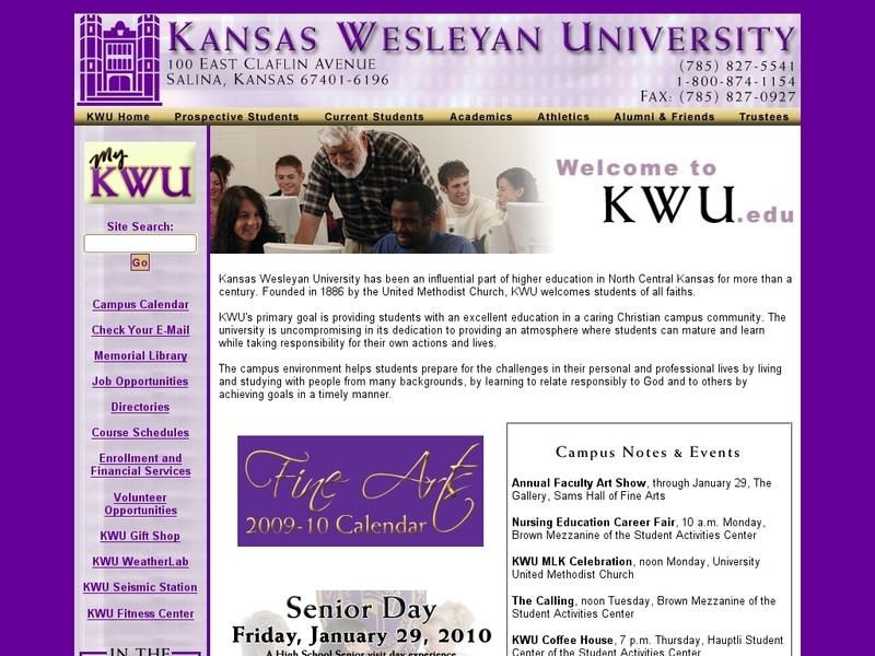 Kansas wesleyan university kansas wesleyan university