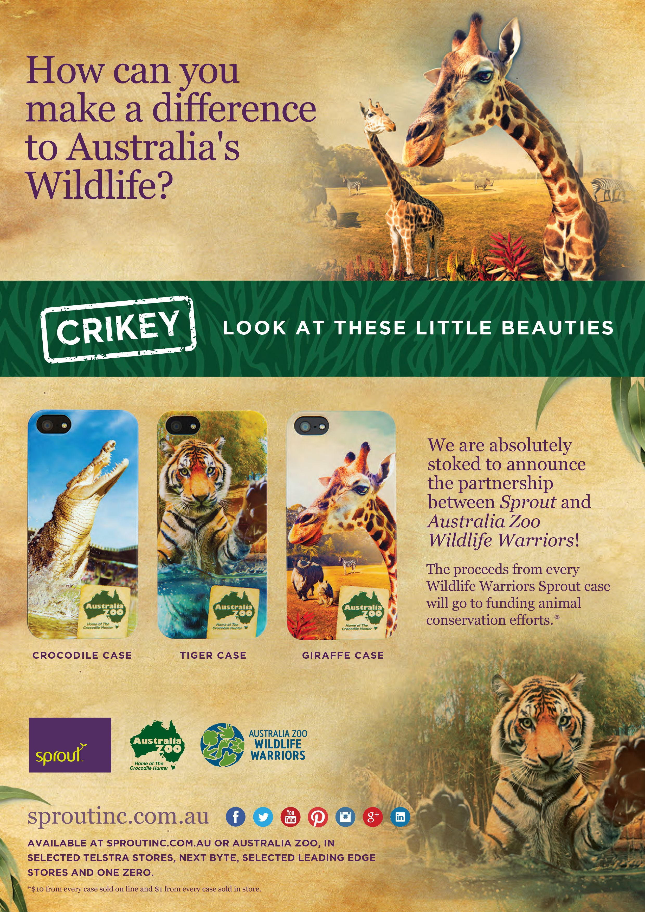 Our Latest Print Ad For Sprout To Feature In The Australia Zoo Crikey Magazine Ifactory Ifactorydigital Print Print Print Ads Digital Digital Marketing