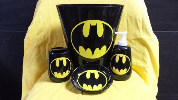 Batman Bathroom Accessory Set Bathroom Accessories Batman