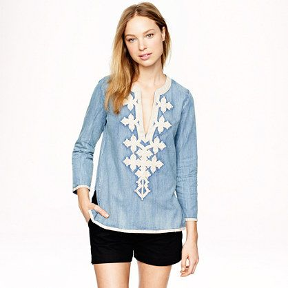 Embroidered J.Crew Tunic