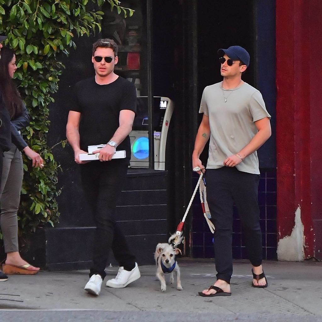 Brandon Flynn On Instagram 06 04 New Brandon Spotted With Richard Madden Walking Charlie Tags 13reasonswhy 13 Richard Madden Justin Foley Richard