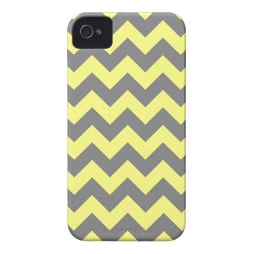 Yellow and Gray Zigzag iPhone 4 Cases