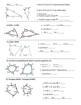 Scale Drawings of Geometric Figures Independent Practice Worksheet