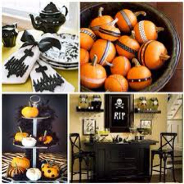 Cute way to display lots of little pumpkins Halloween Party