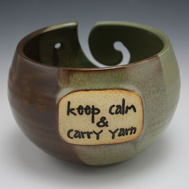 Yarn Bowl: Keep Calm and Carry Yarn