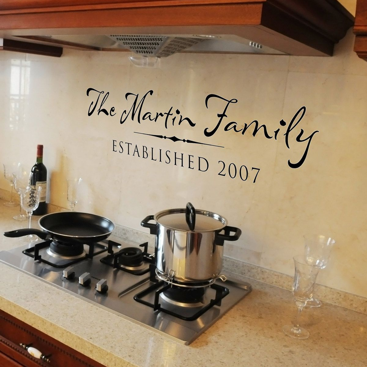 Personalized Family Established Sign Vinyl Wall Decal Wall Words - Custom vinyl wall decals sayings for dining room