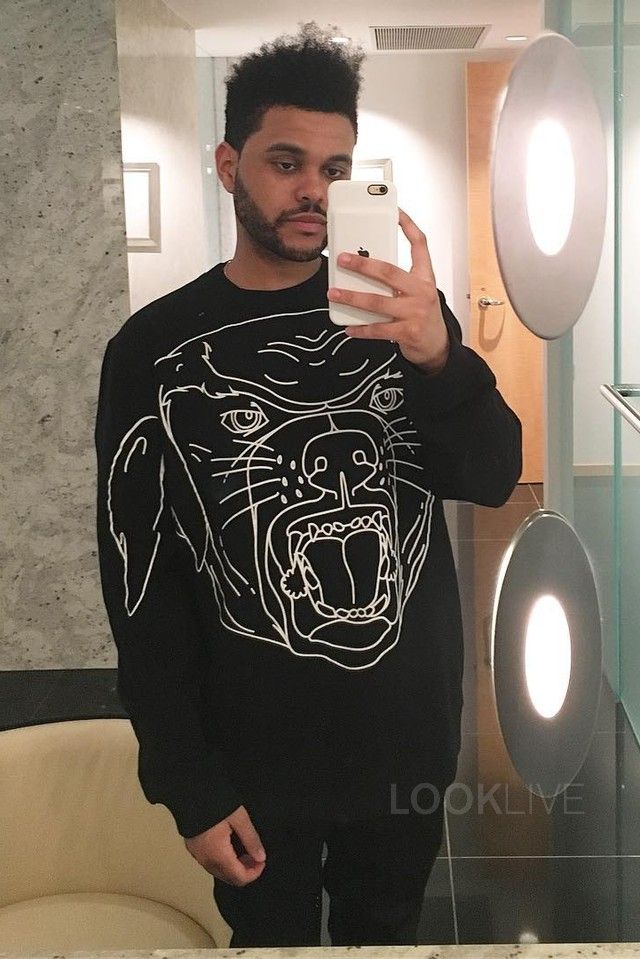The Weeknd wearing Givenchy Barneys Exclusive Rottweiler T-Shirt 04e5cb320