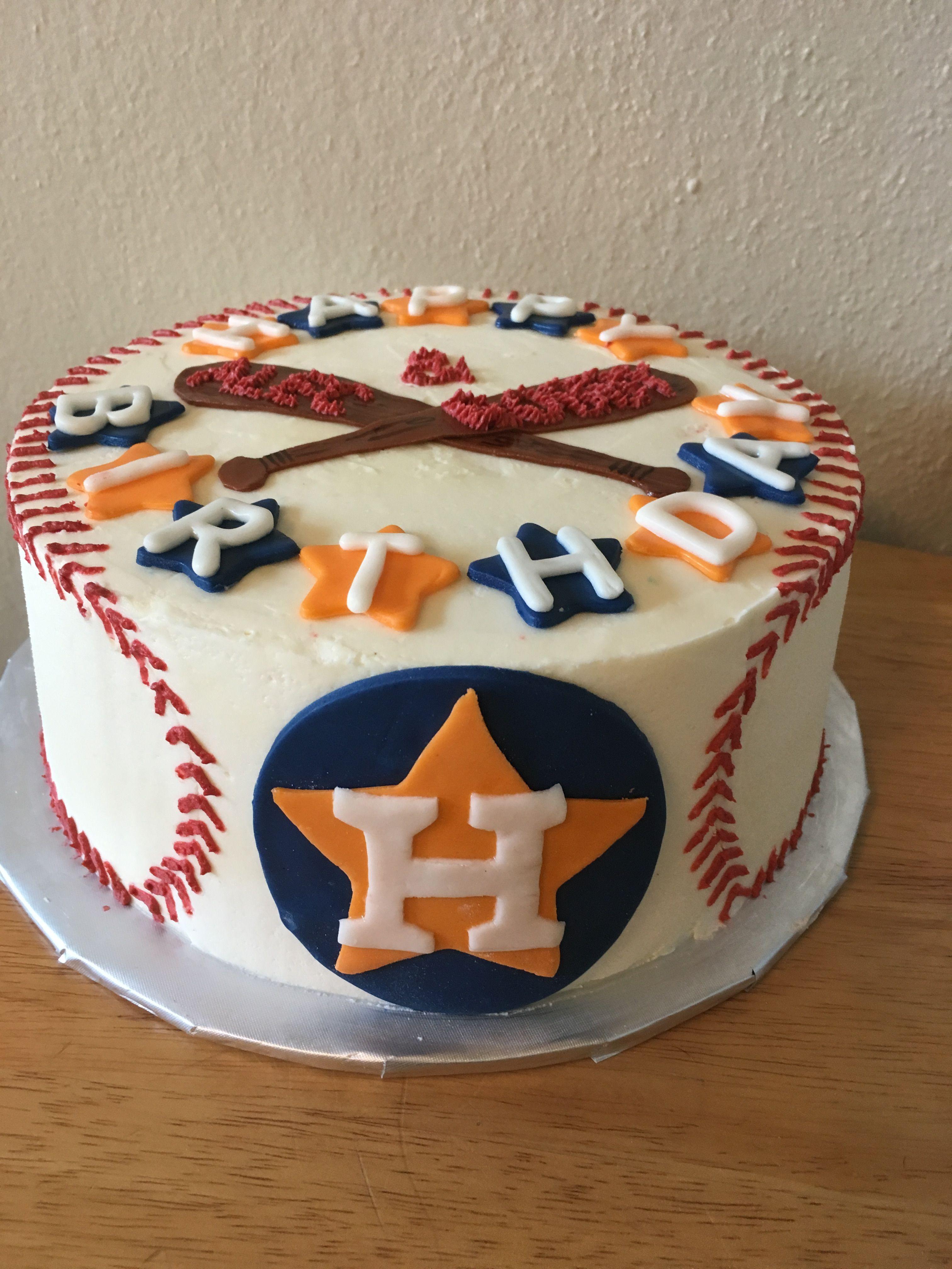 Houston astros baseball cake baseball birthday cakes