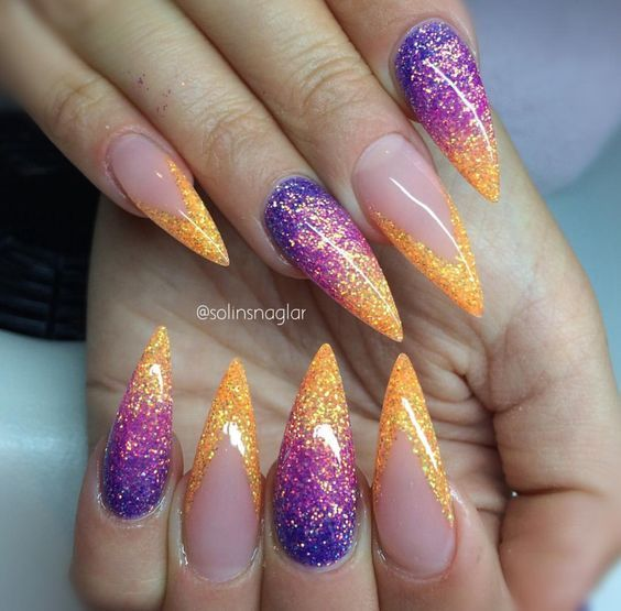 30 ombre nail arts that you will love glitter nails nail nail 30 ombre nail arts that you will love prinsesfo Image collections