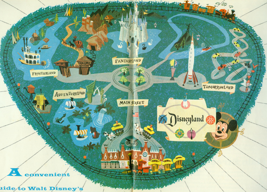 Disneyland Disney World Guide Maps
