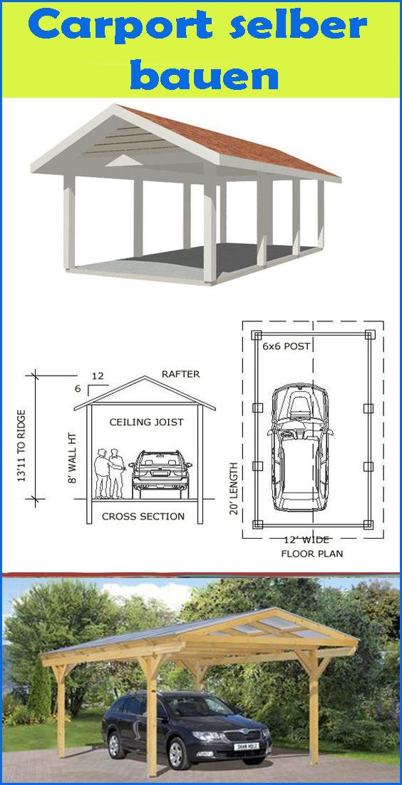 Carport selber bauen für Anfänger Carport selber bauen