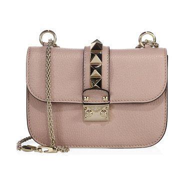 Valentino Turn Lock Flap Shoulder Bag Leather Small 6lDP49v4m
