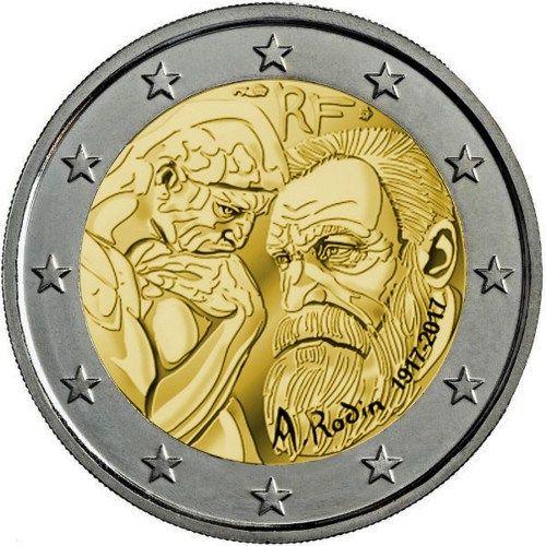Pièce De 2 Euros Commémoratif 2017 France Commémorant Le 100ème Anniversaire La Disparition D Auguste Rodin Ex 10 000 Estimation 25