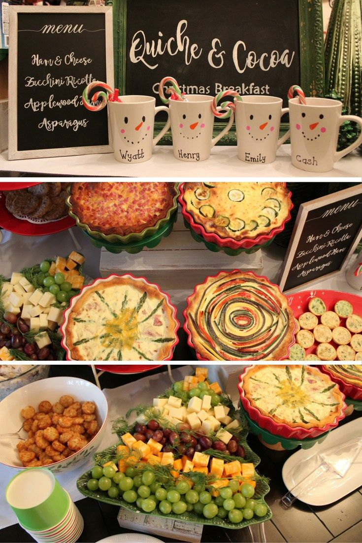 Hosting Christmas Breakfast Quiche Cocoa A Cotton Kandi Life Christmas Breakfast Hosting Christmas Holidays Buffet
