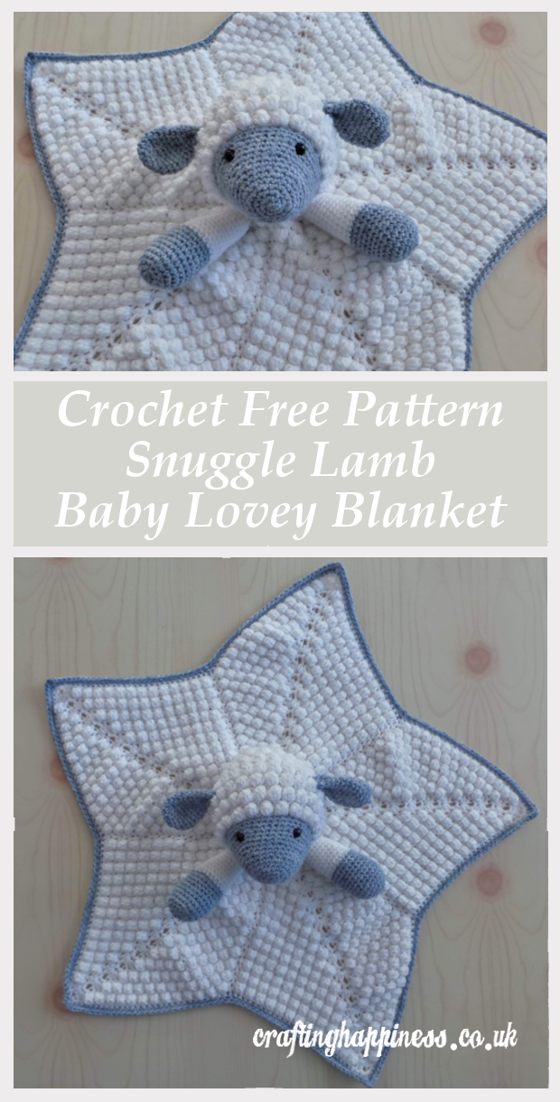 Crochet Pattern: Snuggle Lamb Baby Lovey Security Blanket
