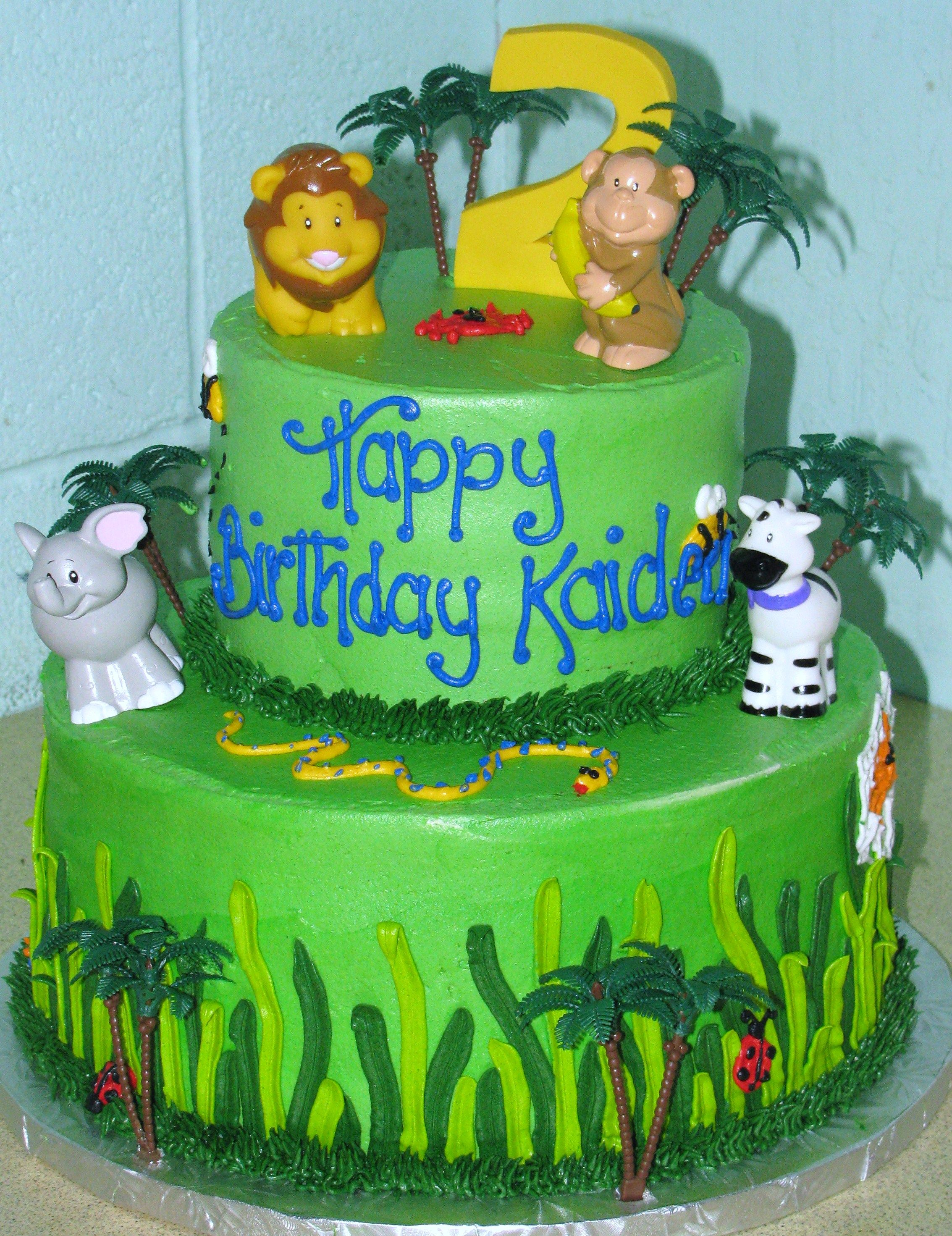 Kaidens Jungle Theme Cake Made By Cest Si Bon Bakery San Jose