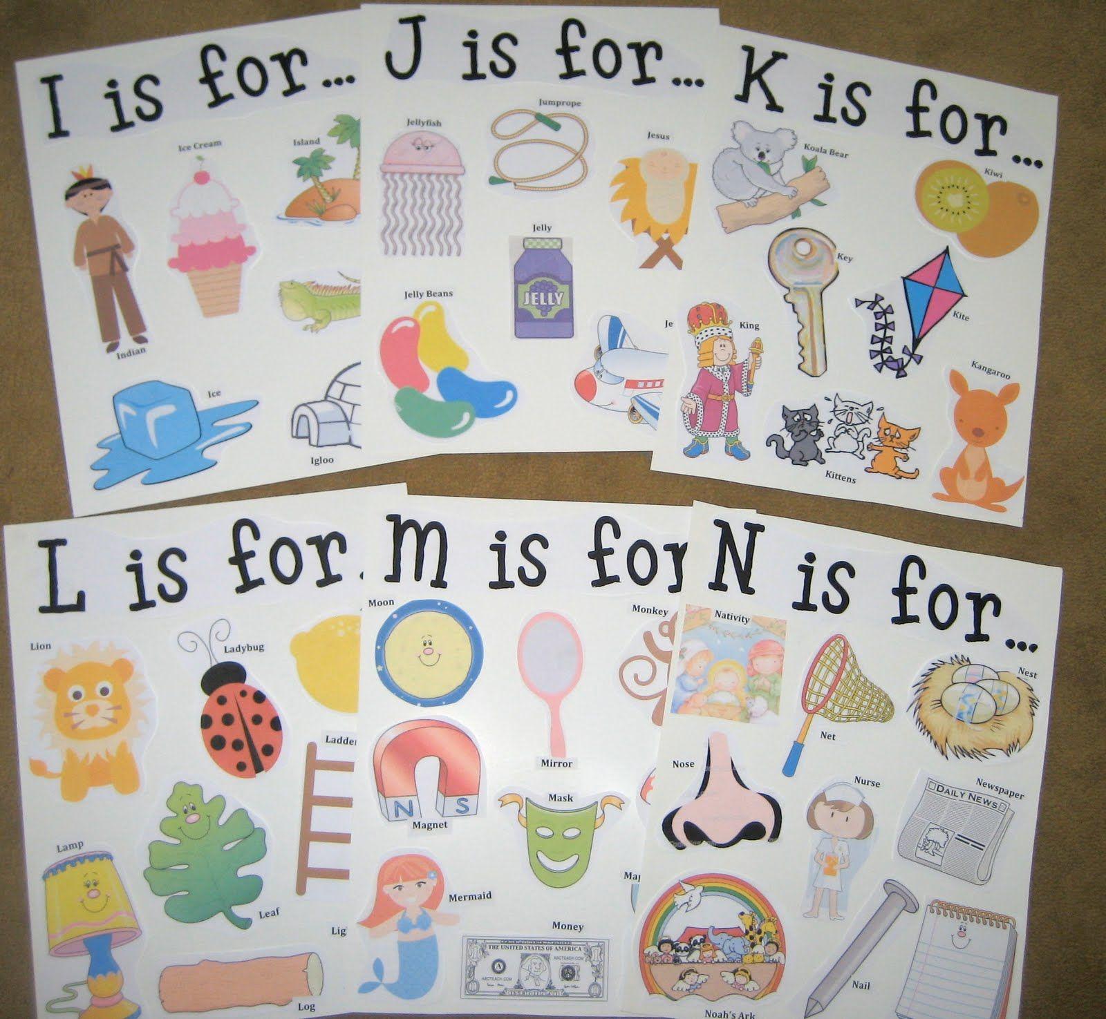 It's A Preschool Party: Alphabet Posters