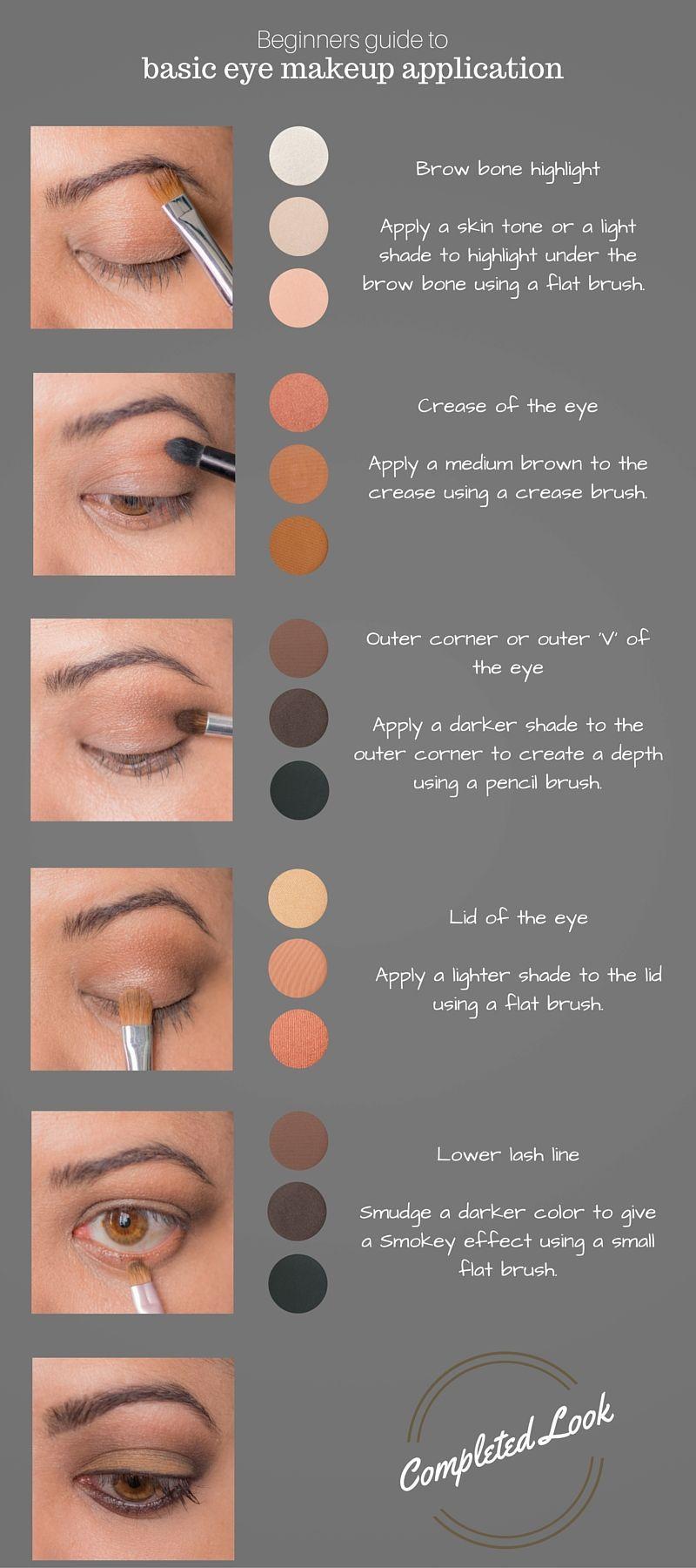Beginners Eye Makeup Guide Makeupideasdramatic Beginners Eye Makeup Basic Eye Makeup Eye Makeup Guide