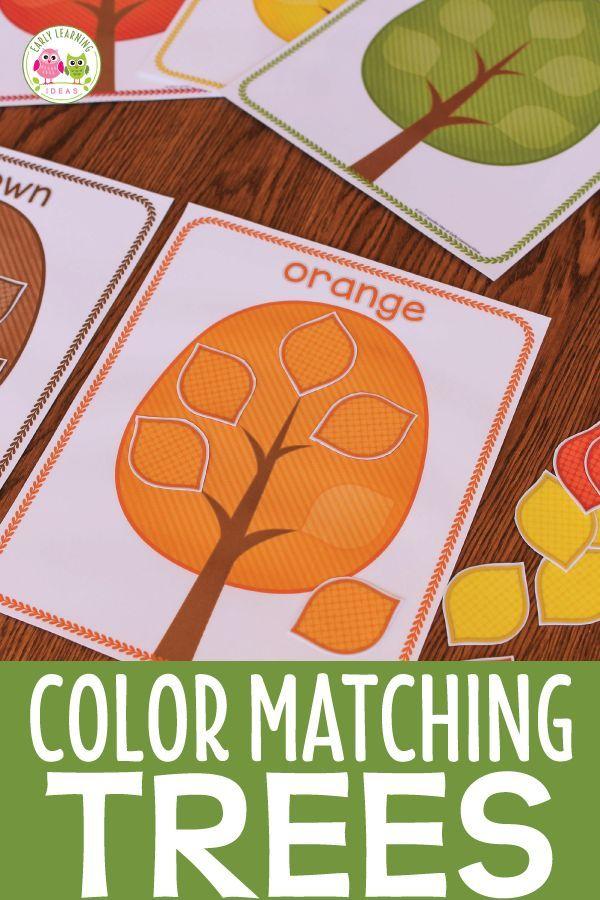 Fall Trees Color Sorting Activities #falltrees