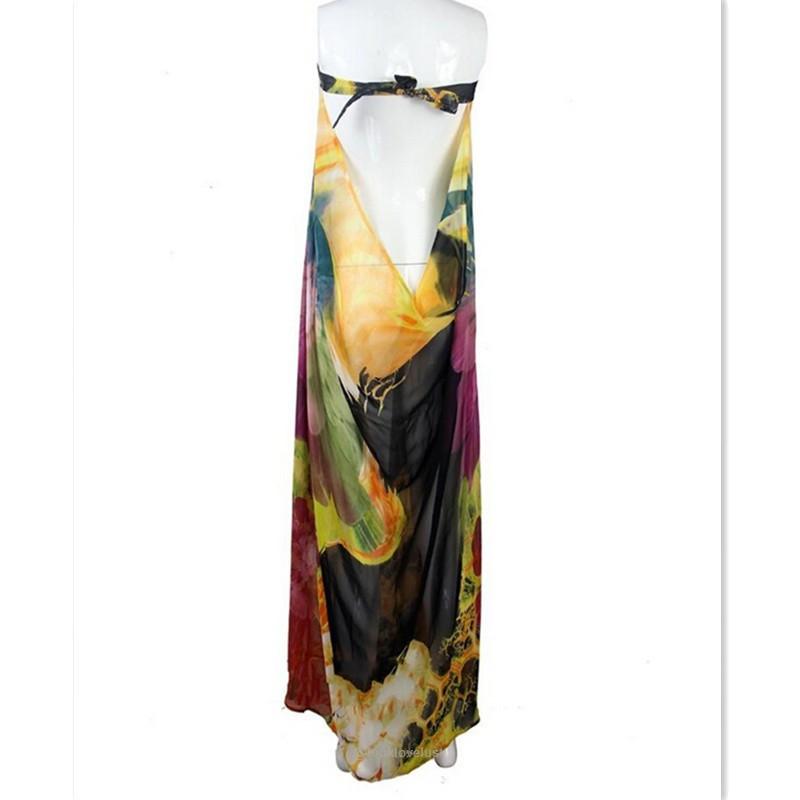 Sheer Floral Print Split Strapless Bikini/Swimsuit Cover Up Sarong-BeachWear-Look Love Lust, https://www.looklovelust.com/products/bikini-swimwear-cover-up-dress