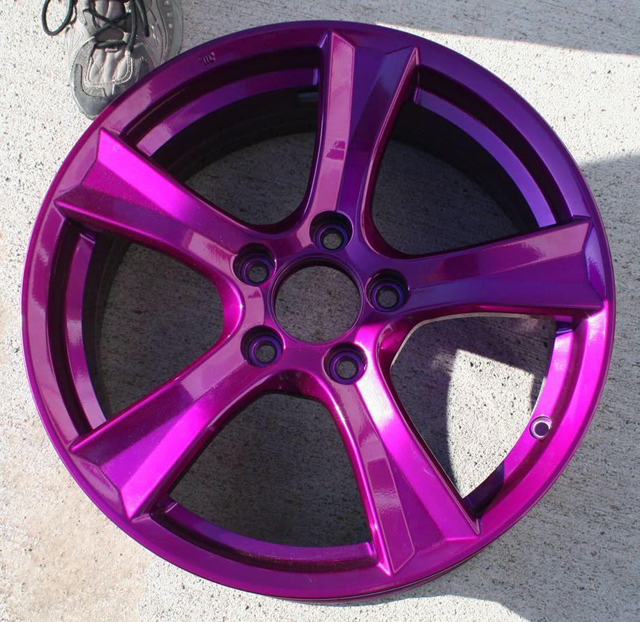 Purple Rims Thread Painting Stock Wheels Black