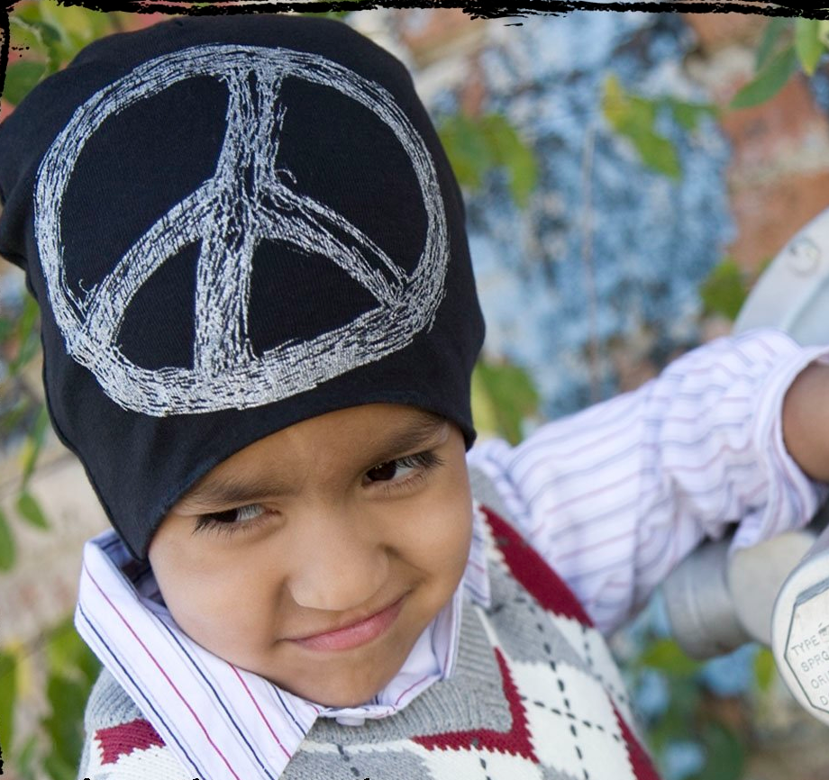 Peace sign hats for baby and toddler girls and boys on sale now at kiditude.com @Kiditude #coolbabyhat #funnykidshats #peace