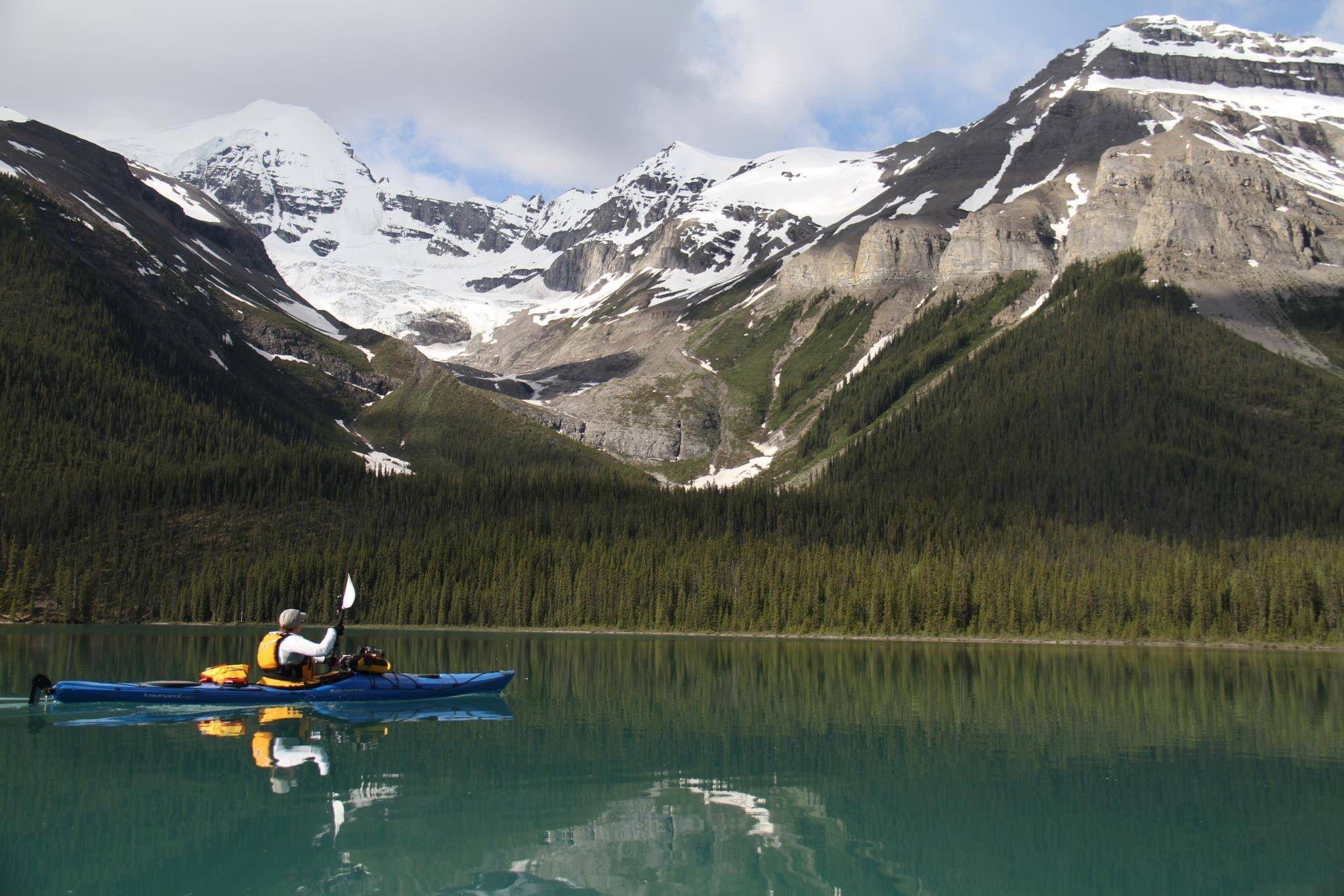 Maligne lake in Jasper National Park Canada Trail life