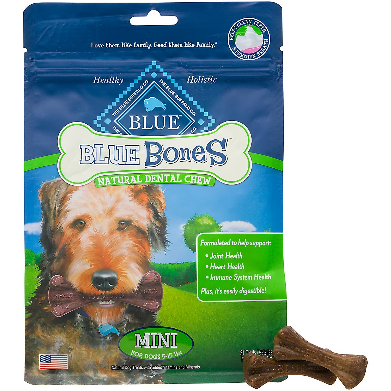 Blue Buffalo Blue Dental Bones Regular Size Dog Treats 27 Oz