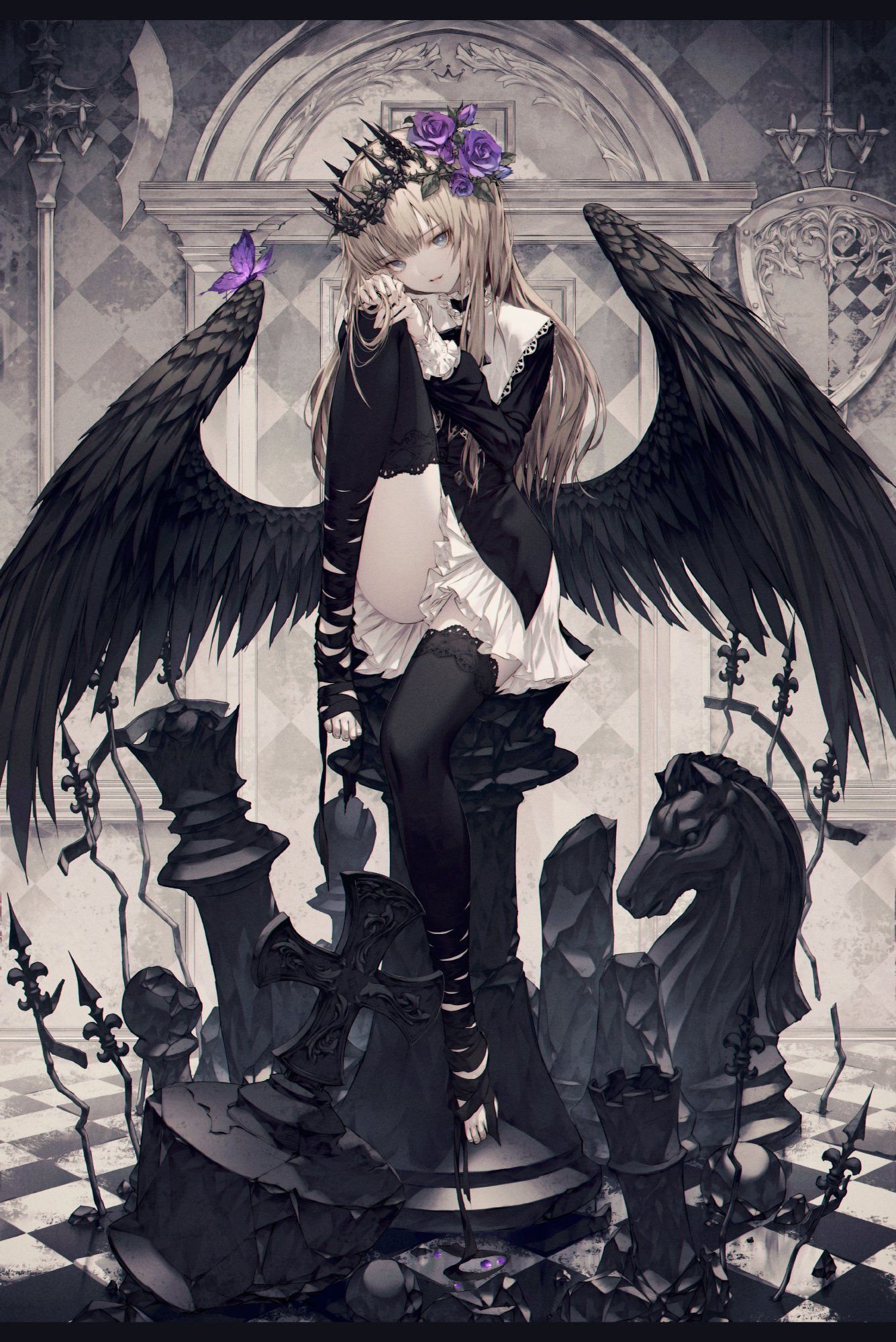 Twitter Gothic Anime Anime Art Girl Anime Angel