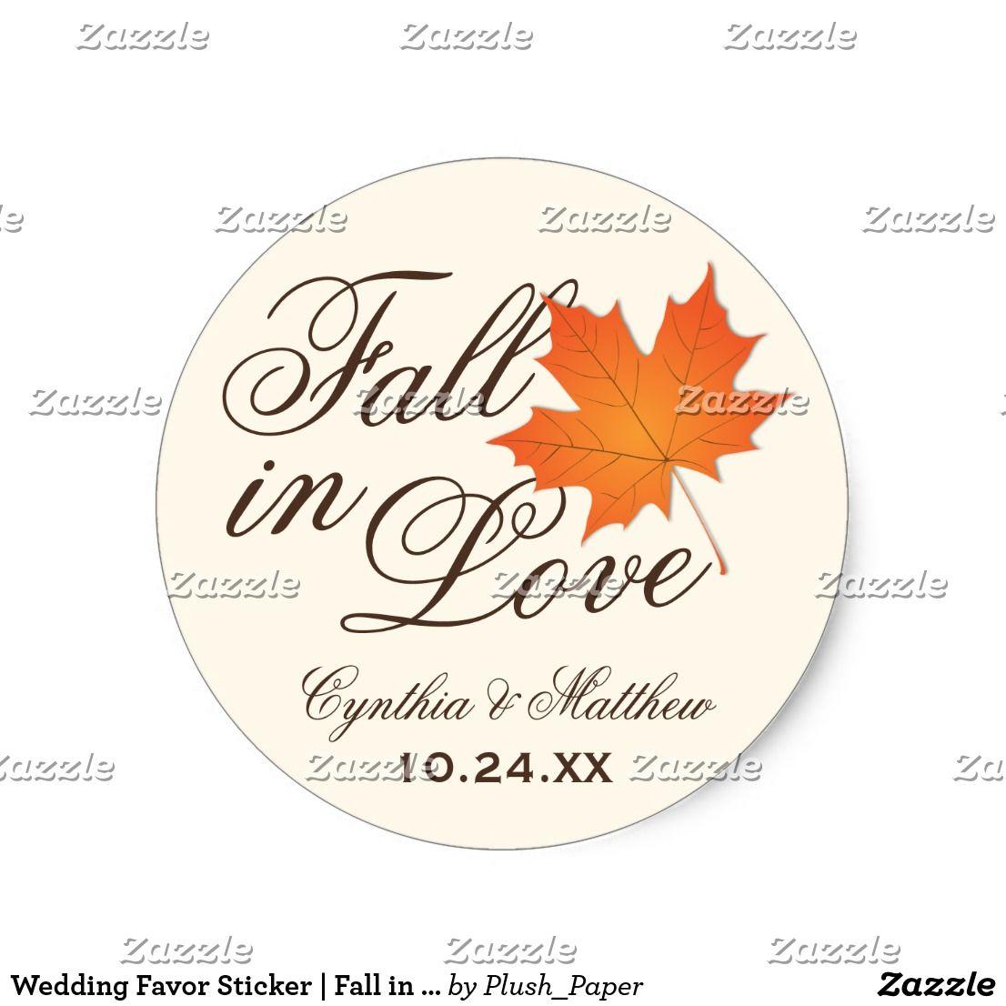 Wedding Favor Sticker | Fall in Love Theme | Favors, Themed weddings ...
