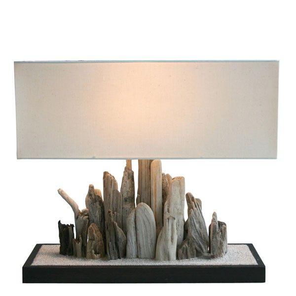 Lampe bois flotté Duinne II | Bois Flotté - Driftwood | Pinterest ...