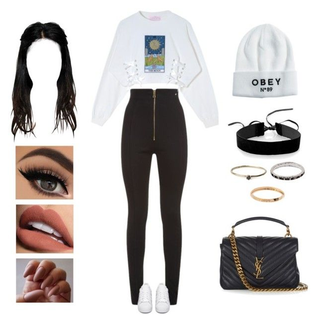 Jay Park - 2nd thots by kyndraxsvt on Polyvore featuring polyvore fashion style Balmain adidas Originals Yves Saint Laurent Simons Cartier Satomi Kawakita OBEY Clothing Sephora Collection clothing