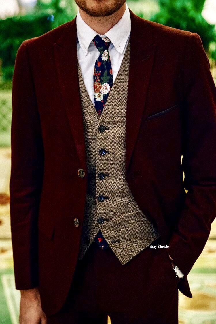 Three piece rustic/ vintage wedding suit. mensfashion