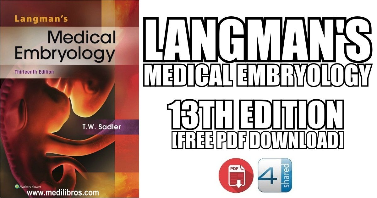 This article contains Langman\'s Medical Embryology 13th Edition PDF ...