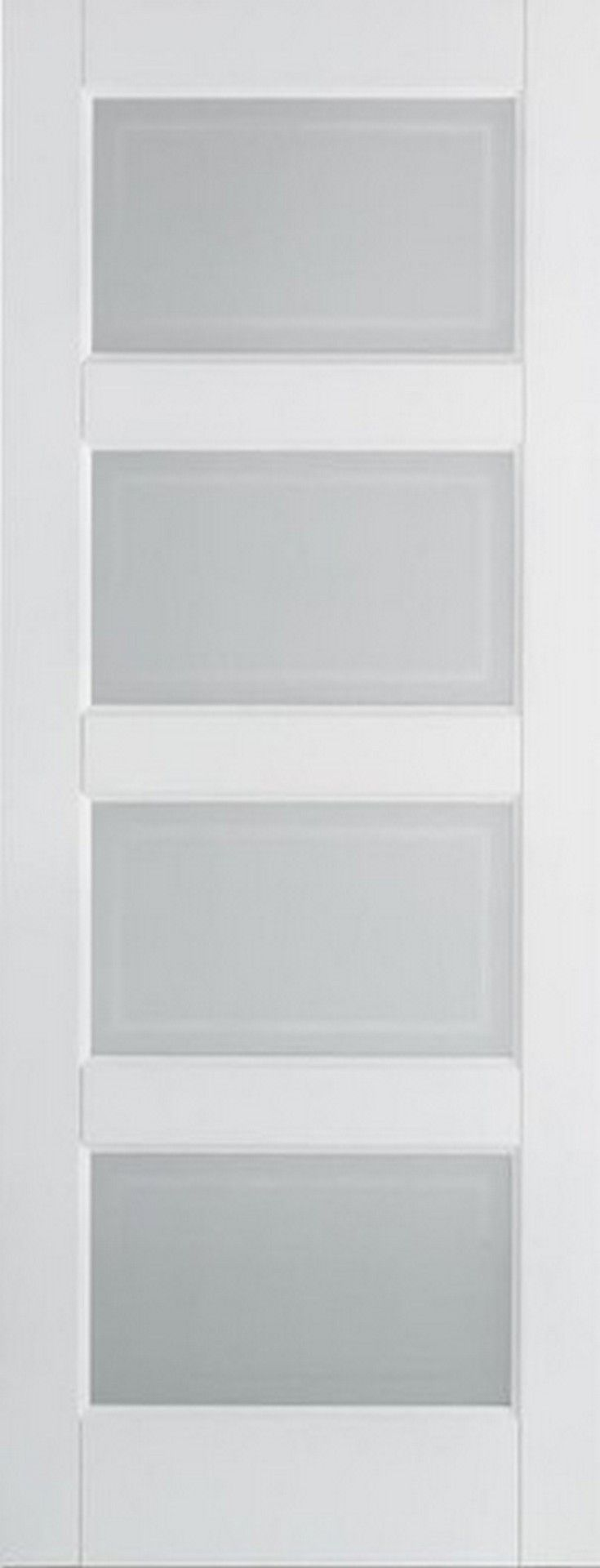 Internal White Contemporary 4 Panel Frosted Glass Door Moda Doors Glass Doors Interior Doors Interior Frosted Glass Internal Doors