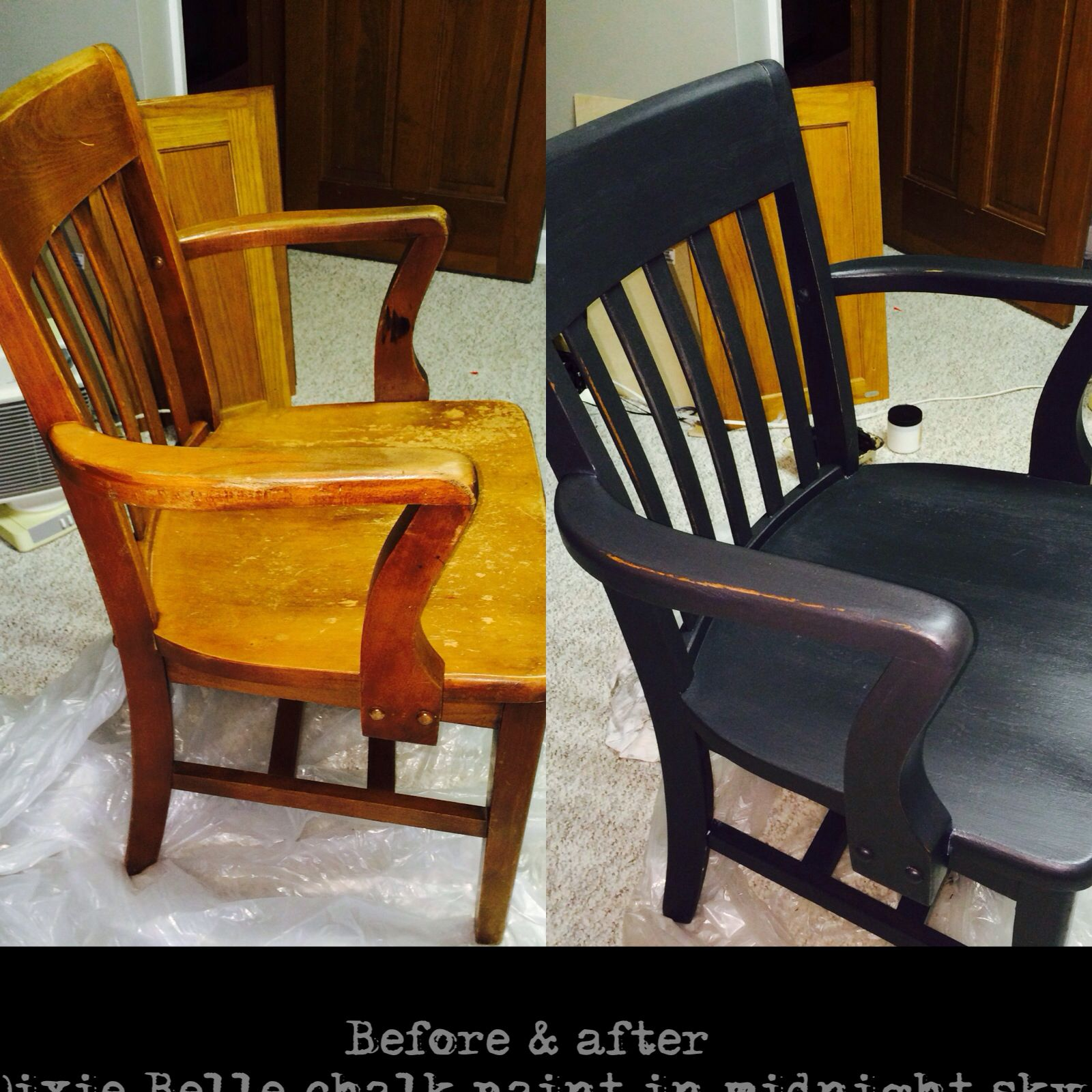 Re Did A Chair That Needed Some Love Using Dixie Belle Paint In Midnight Sky