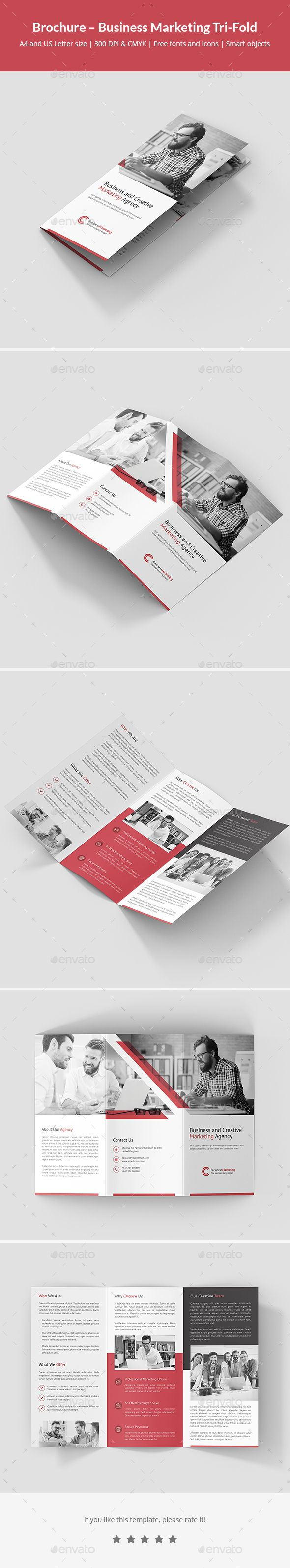 Brochure  Business Marketing TriFold  Business Marketing Tri
