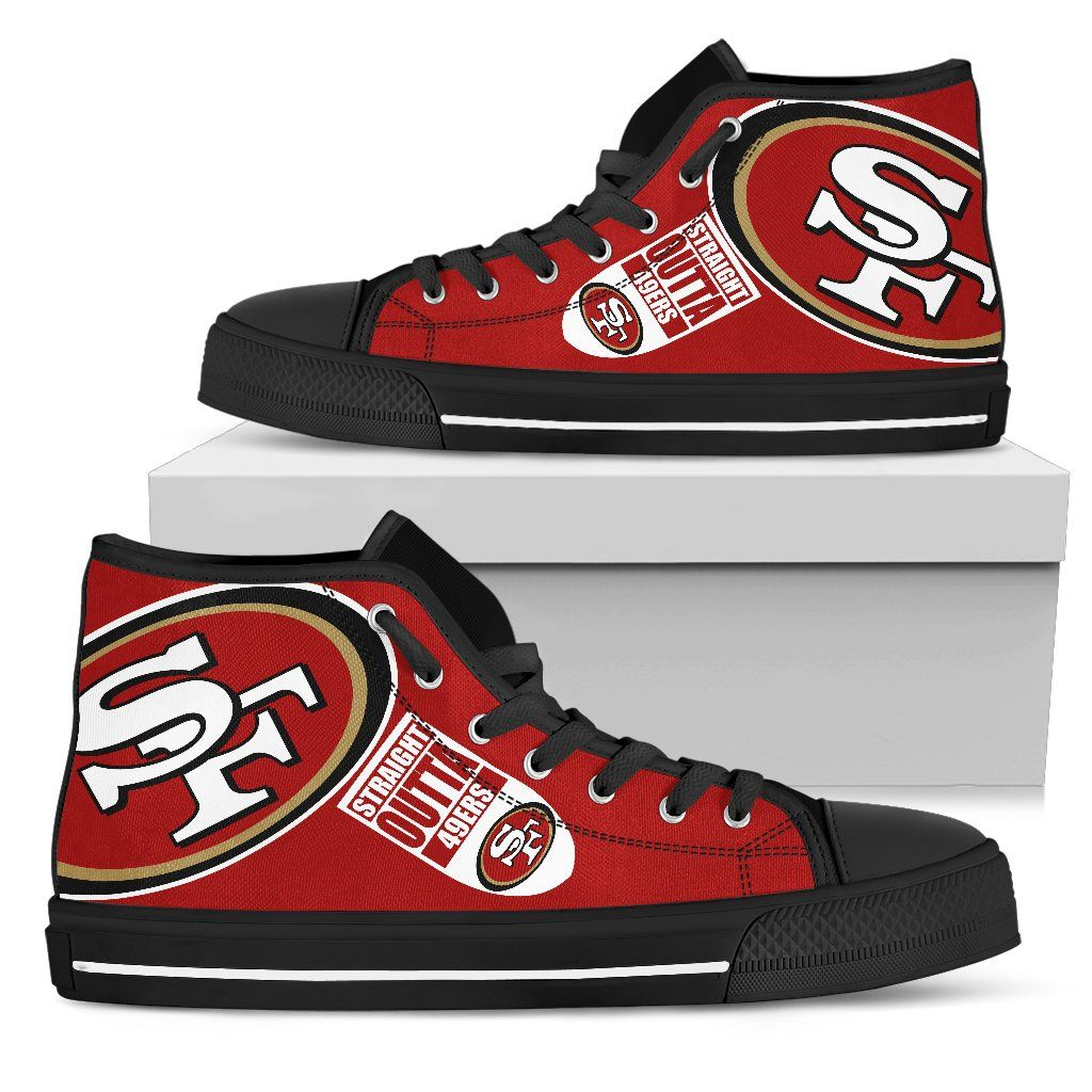 2e70e95f0fd Straight Outta San Francisco 49ers High Top Shoes | San Francisco ...