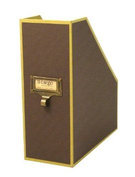 Amazon.com: Cargo Atheneum Magazine File Box, Brown, 11 by 10 by 4-Inch: Office Products