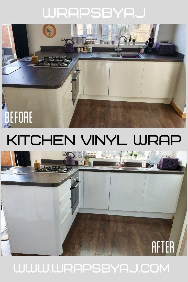 Before after kitchen wrap kitchen wrap kitchen vinyl
