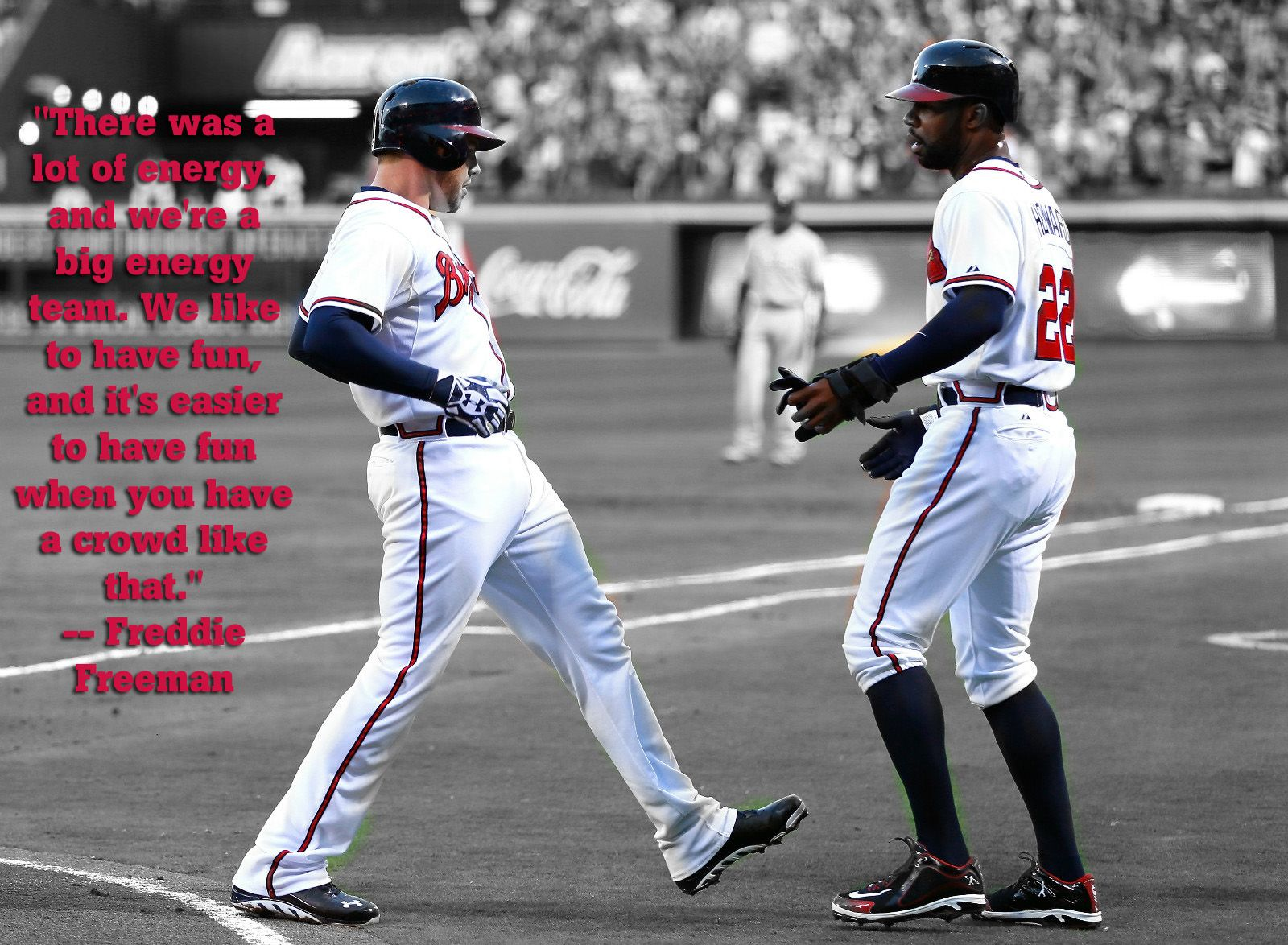 Freddie Freeman Following The Braves Victory Over The Phillies On Opening Day 2013 Atlanta Braves Game Atlanta Braves Baseball Atlanta Braves