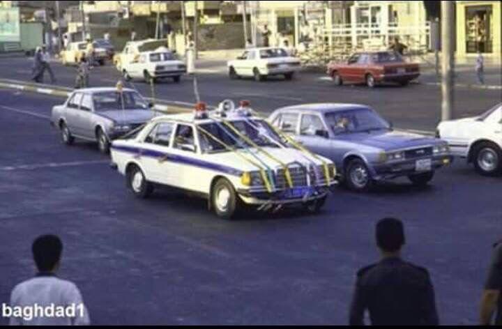 1988 baghdad old police cars baghdad iraq baghdad