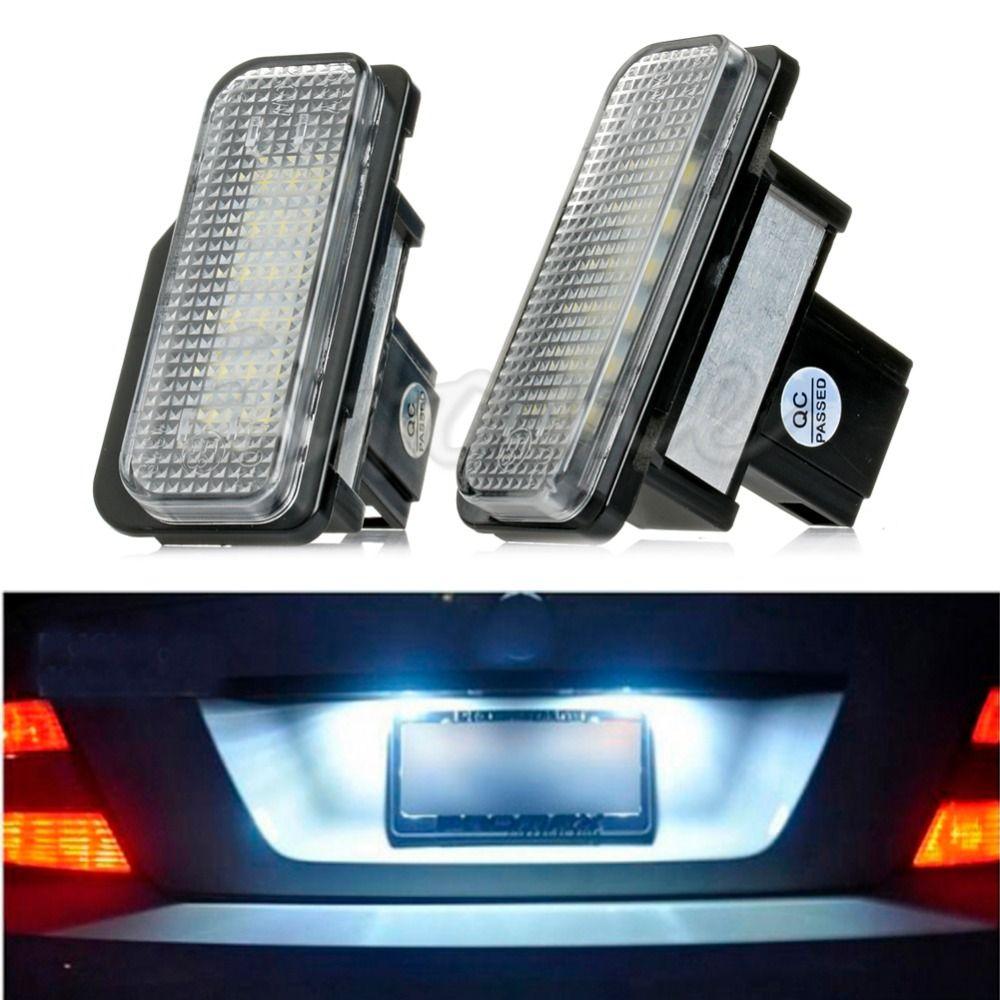 18 LED License Plate Lights Error Free Fit For Mercedes For