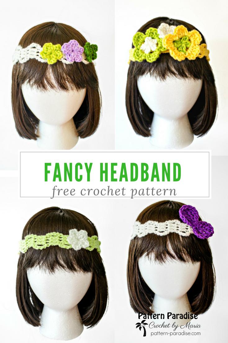 Free Crochet Pattern: Fancy Headband | Pinterest | Diademas tejidas