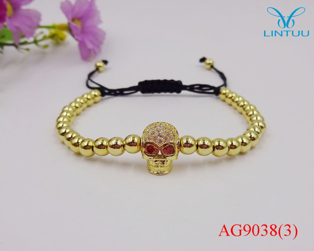 Click to buy ucuc hot selling fashion braided cz skeleton