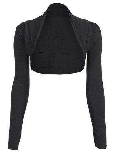 635ade6f82 Womens Long Sleeve Plain Shrug Bolero Cropped Cardigan Top Ladies Sizes  8-16  UK   Ireland £2.00