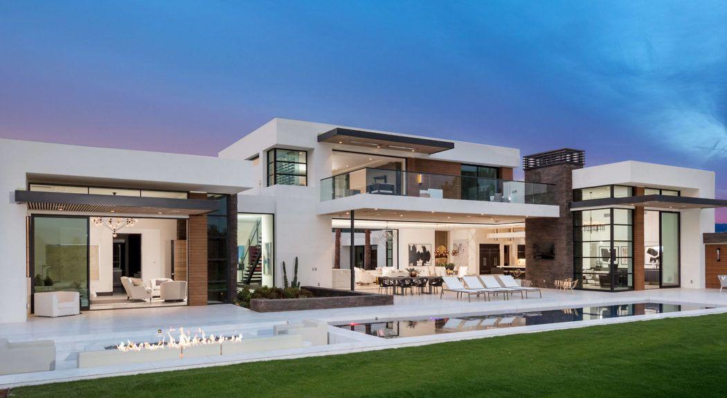 Modern Desert Home By South Coast Architects Homeadore Modern Exterior House Designs Modern Desert Desert Homes